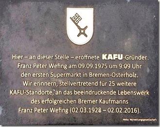 Gedenktafel Peter Wefing 21.09.2017